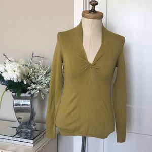 💙Halogen Knot Front V-Neck  Sweater Size Small
